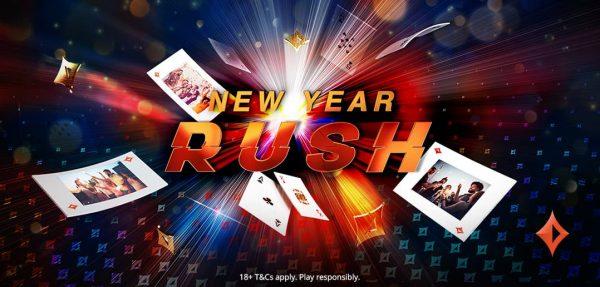New Year Rush, nova promoção do partypoker, distribui até 5 prêmios por dia