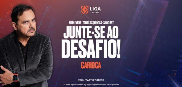 Liga partypoker: com retorno de Carioca, terceiro ME de setembro acontece nesta quinta